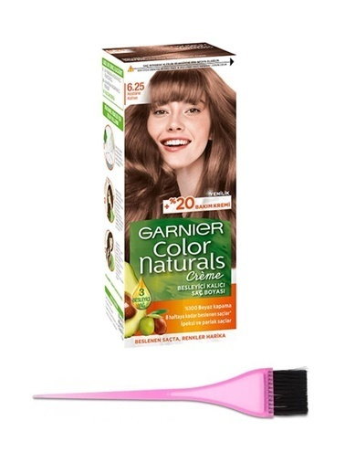 Garnier Garnier Color Naturals Saç Boyası 6.25 + Boya Fırçası Renksiz